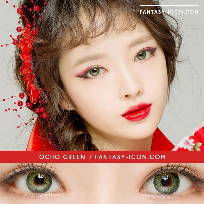 Colored Contacts Ocho Green - Circle Lenses 3