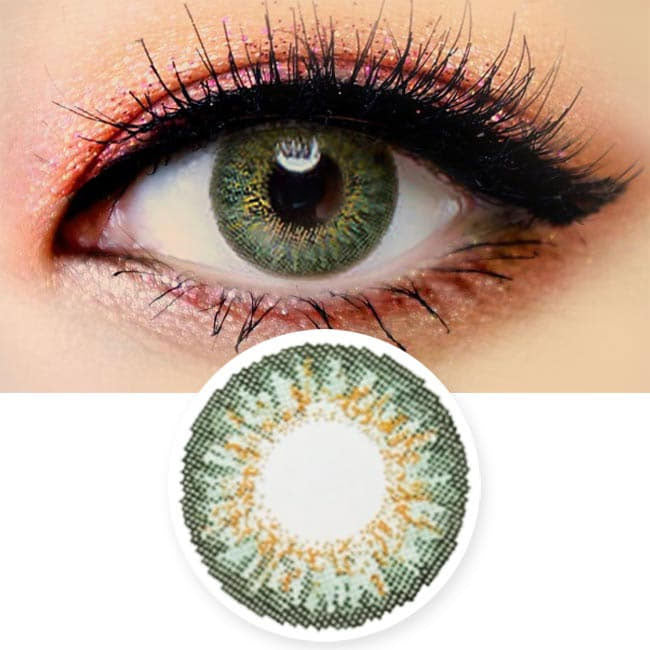 Colored Contacts Ocho Green - Circle Lenses