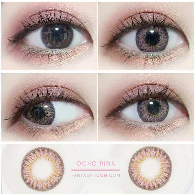 Colored Contacts Ocho Pink - Circle Lenses 2