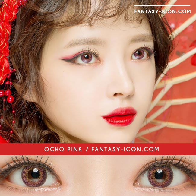 Colored Contacts Ocho Pink - Circle Lenses 3