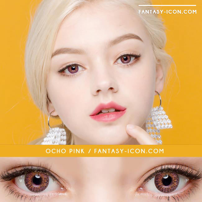 Colored Contacts Ocho Pink - Circle Lenses 4