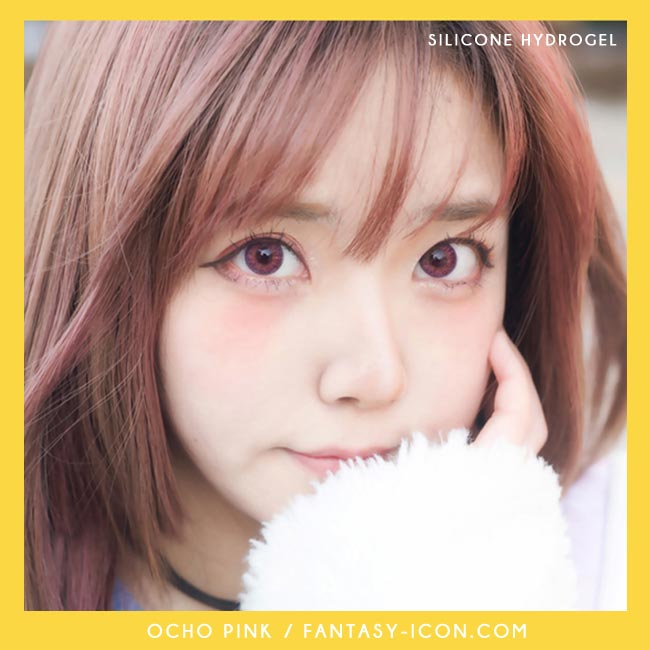 Colored Contacts Ocho Pink - Circle Lenses 5