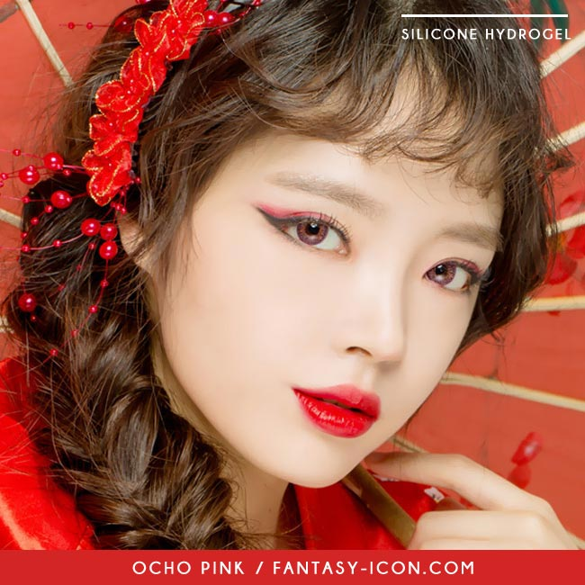 Colored Contacts Ocho Pink - Circle Lenses 6