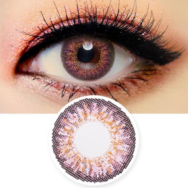 Colored Contacts Ocho Pink - Circle Lenses