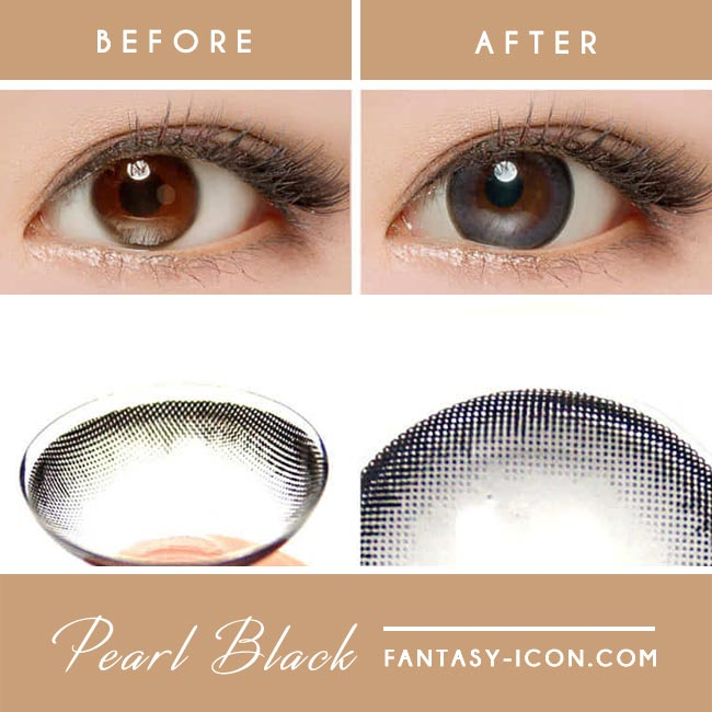 Colored contacts for Hyperopia Pearl Black 2