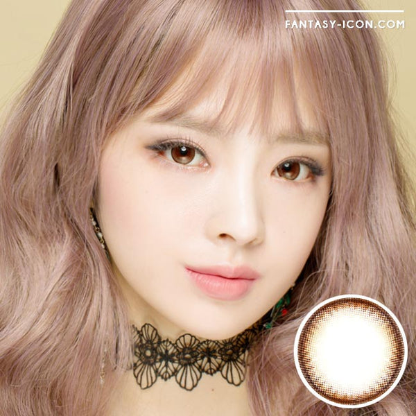 Colored contacts for Hyperopia Pearl Brown 1