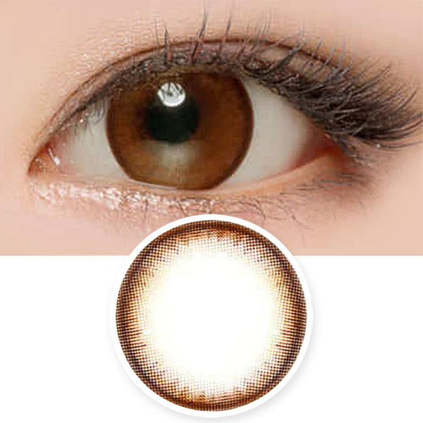 Pearl Brown Contacts for Hperopyia - farsightedness