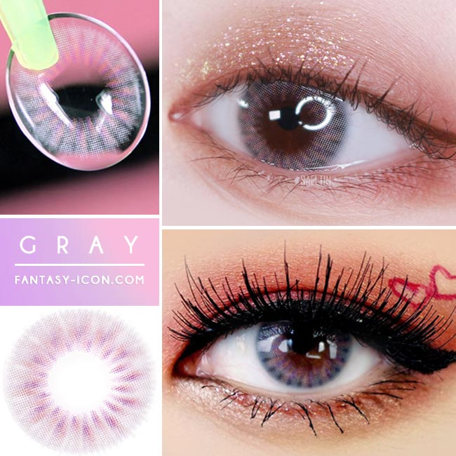 Colored Contacts Placide Grey - Circle Lenses 2
