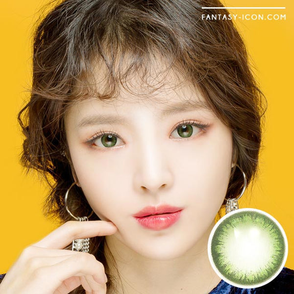 Colored Contacts Rose Jeje Green - Circle Lenses 1