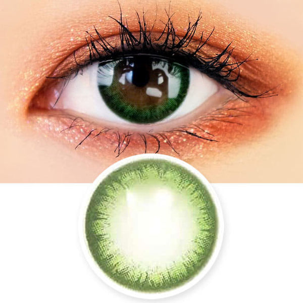 Colored Contacts Rose Jeje Green - Circle Lenses