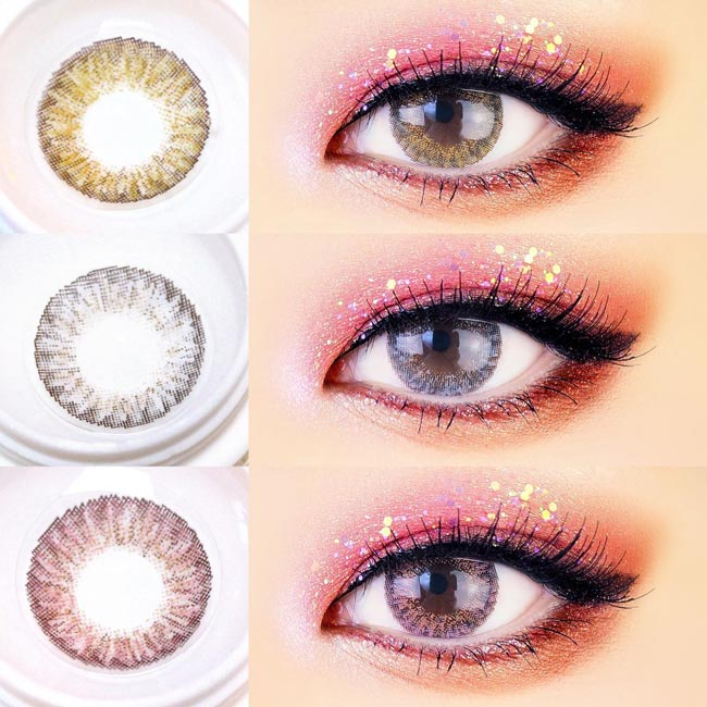 Royal Coordiview Contacts - Pink, Brown, Grey