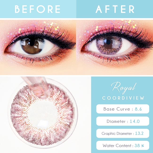 Pink Contacts - Royal Coordiview - Detail