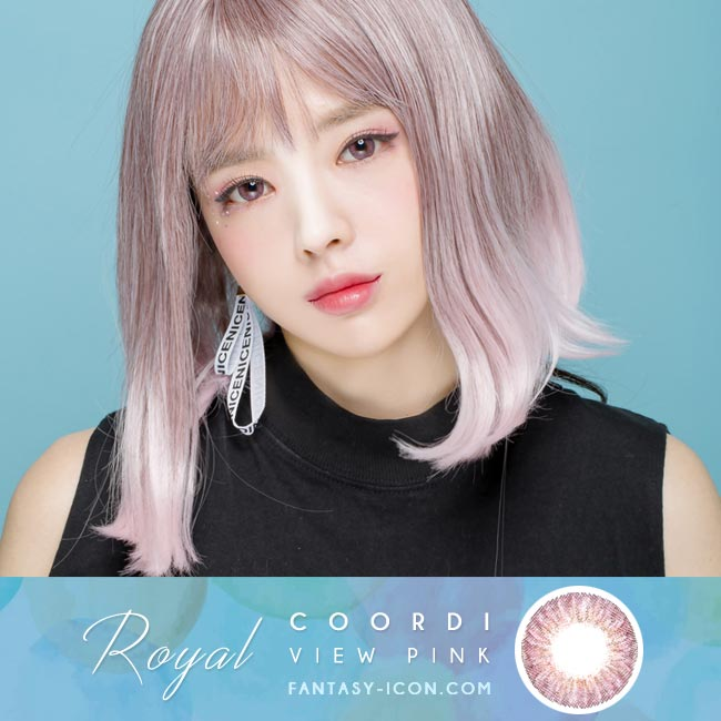Pink Contact Lens - Royal Coordiview Model 2