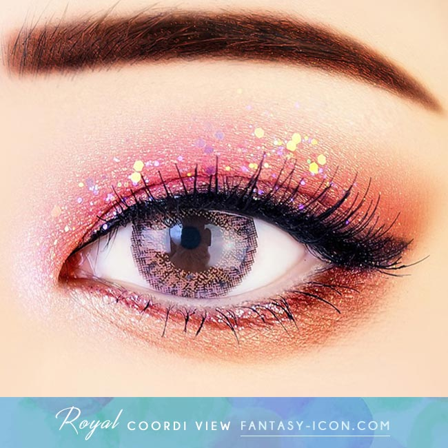 Pink Contacts - Royal Coordiview - Eyes Detail