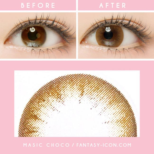 Colored Contacts Magic Chocolate Brown - Circle Lenses 3