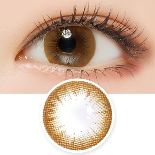 Toric Lens Magic Chocolate Brown Colored Contacts For Astigmatism