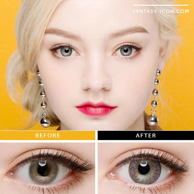 Toric Colored Contacts for Astigmatism - Lucia Spark Grey 4
