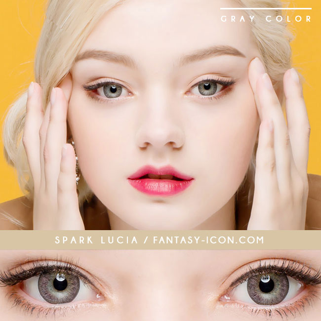 Toric Colored Contacts for Astigmatism - Lucia Spark Grey 5