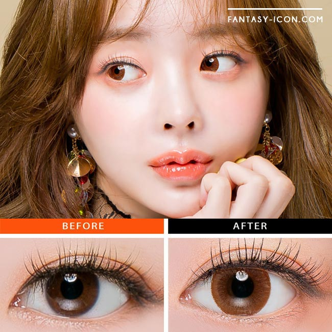 Colored Contacts Stella Brown - Circle Lenses 4