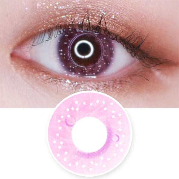 Colored Contacts Milky Stella Pink - Circle Lenses