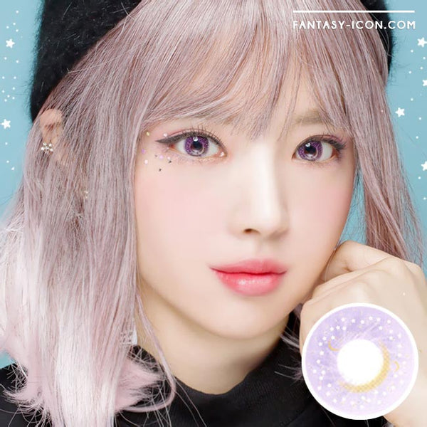 Colored Contacts Milky Stella Purple Violet - Circle Lenses 1