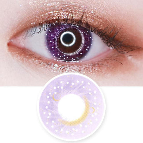 Colored Contacts Milky Stella Purple Violet - Circle Lenses