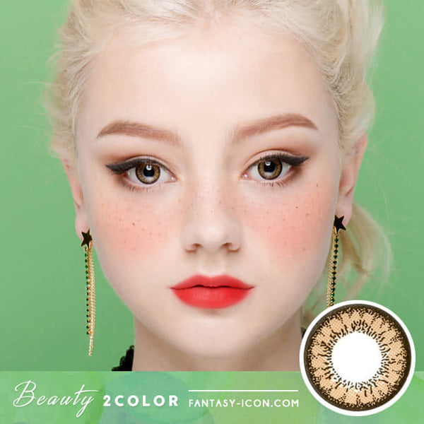 Beauty 2 Color Brown Colored Contacts For Astigmatism- Toric Lens model