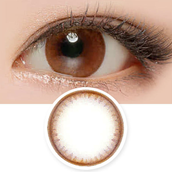 Toric Lens Natural Chocolate Brown Colored Contacts For Astigmatism