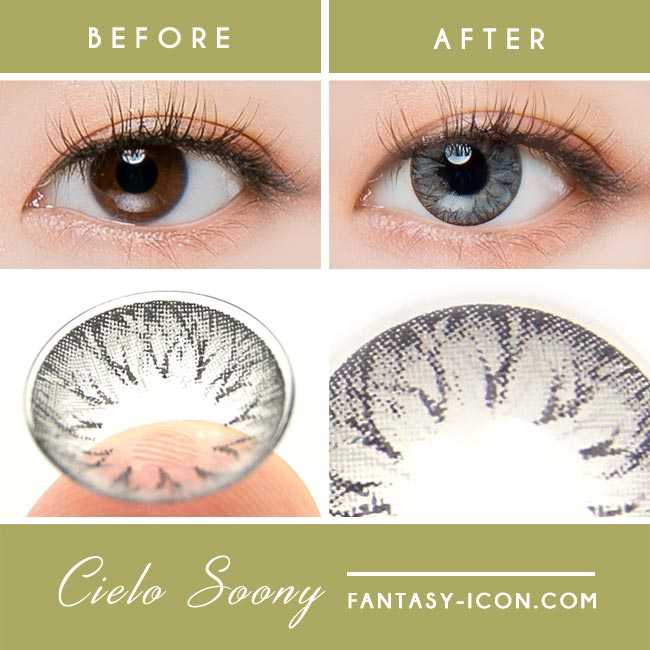 Grey Toric Colored Contacts for Astigmatism - Cielo soony 2