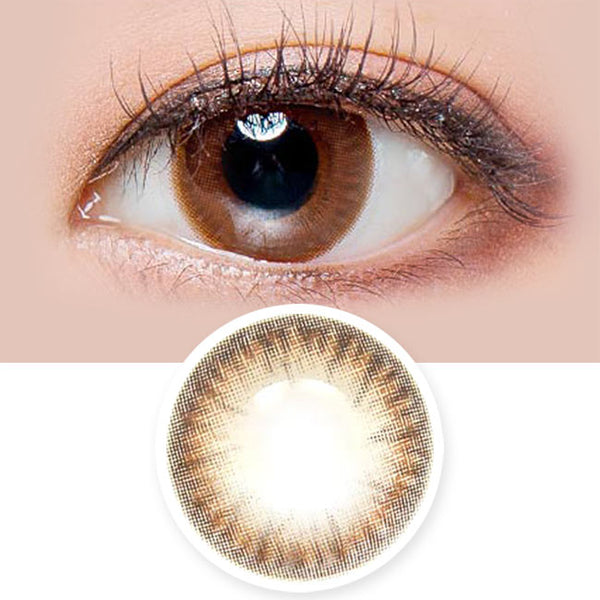 Toric Lens Daisy Shasha Chocolate Brown Colored Contacts For Astigmatism