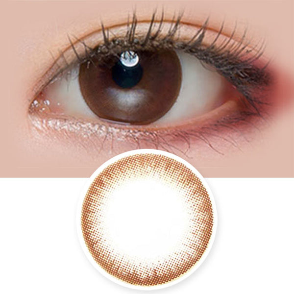 Toric Lens Milky Dali Brown Black Colored Contacts For Astigmatism