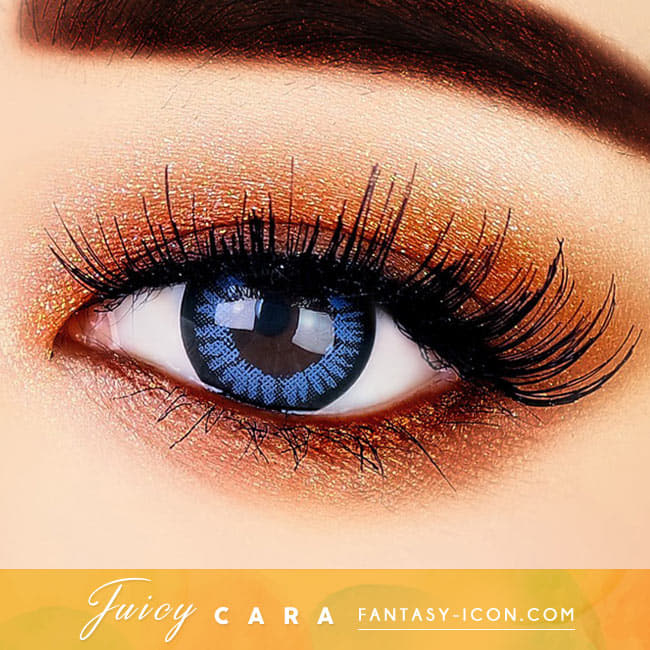 Juicy Cara Blue Colored Contacts For Astigmatism eyes