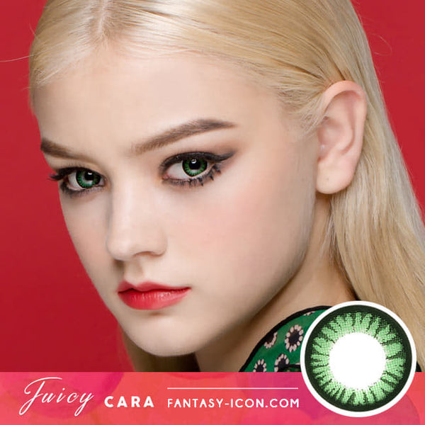 Juicy Cara Green Toric Lens model