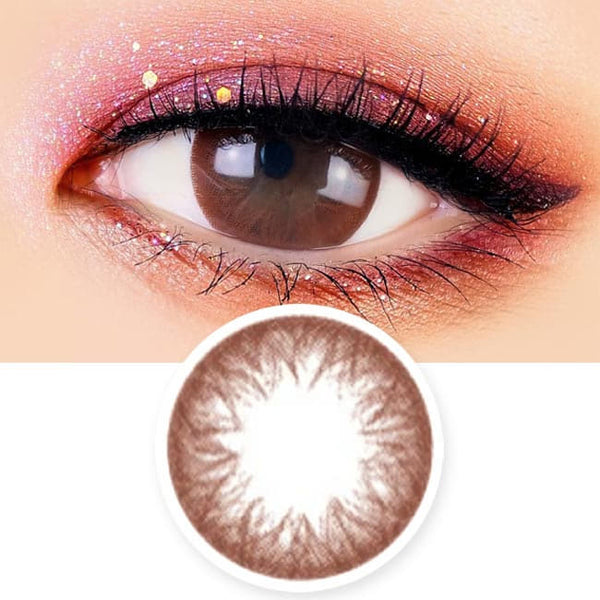 Toric Lens Rosie Envy Chocolate Brown Colored Contacts For Astigmatism
