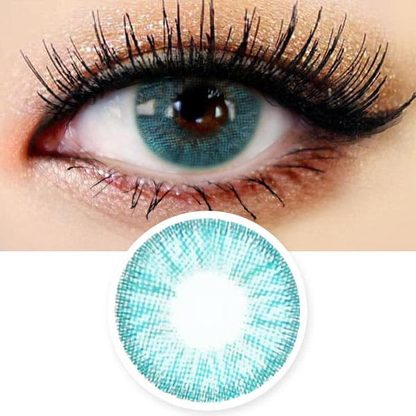 Innovision Honey Glamour Aqua Blue Contacts