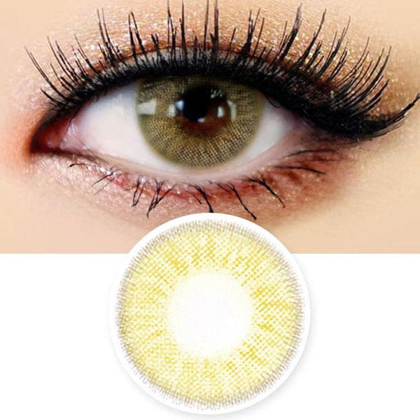 Innovision Honey Glamour Hazel Brown Contacts | UV Blocking