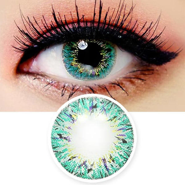 Colored Contacts Villea Blush Blue - Circle Lenses
