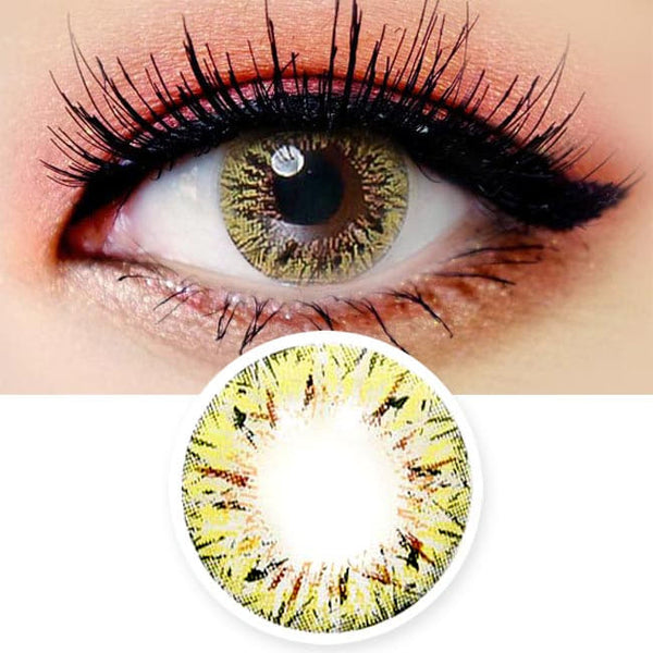 Colored Contacts Villea Blush Brown - Circle Lenses