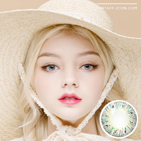 Colored Contacts Villea Blush Grey - Circle Lenses 1