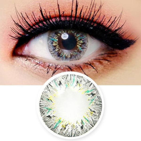 Colored Contacts Villea Blush Grey - Circle Lenses