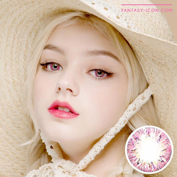 Colored Contacts Villea Blush Pink - Circle Lenses 1