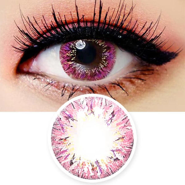 Colored Contacts Villea Blush Pink - Circle Lenses