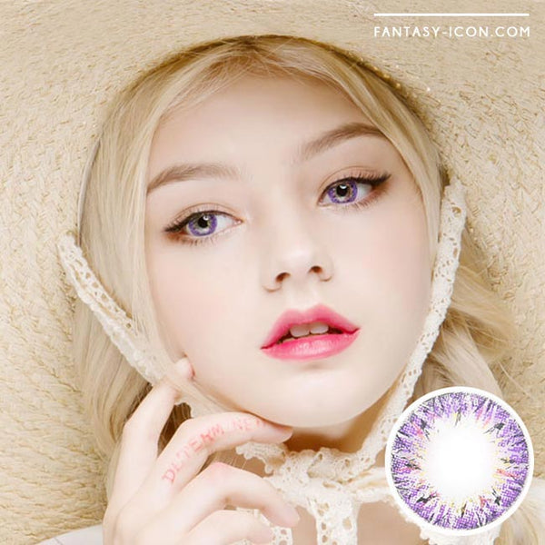 Colored Contacts Villea Blush Purple Violet - Circle Lenses 1