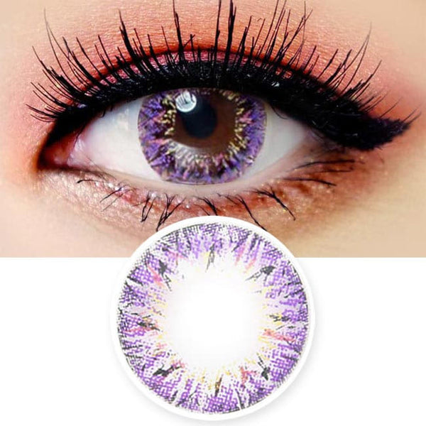 Colored Contacts Villea Blush Purple Violet - Circle Lenses