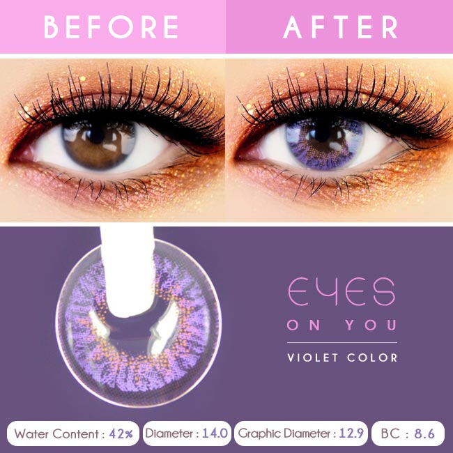 Violet Colored Contacts - Purple Eyes on You - Detail