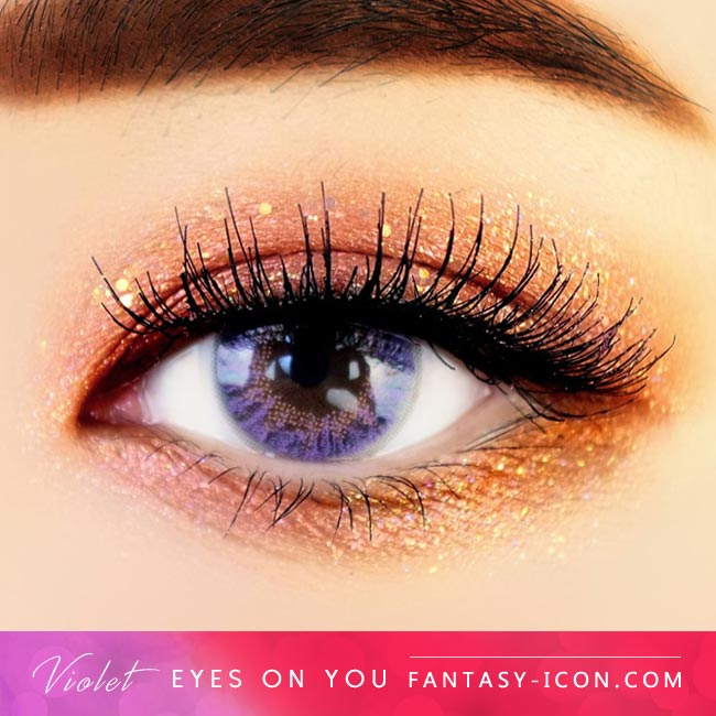 Violet Colored Contacts - Eyes on You - Purple Eyes