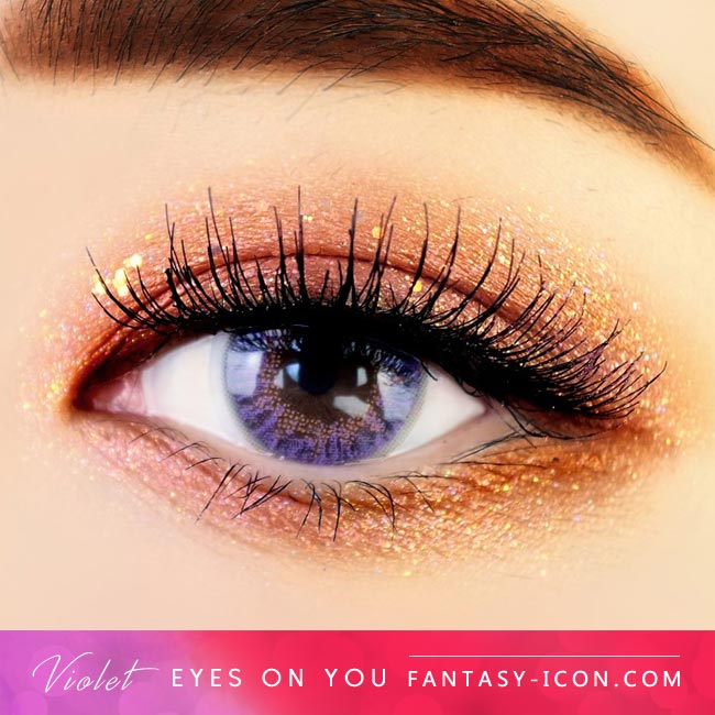 Violet Colored Contacts - Eyes on You - Purple Eyes 2