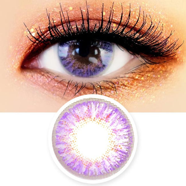 Violet Colored Contacts - Purple Eyes on You