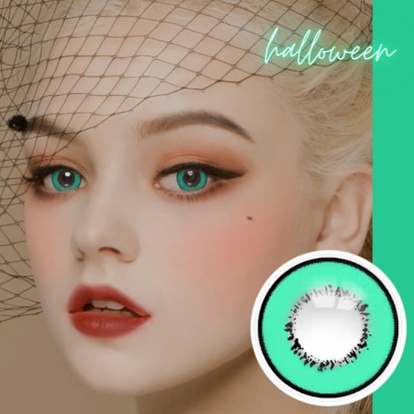 Cosplay UV Halloween Green Contacts
