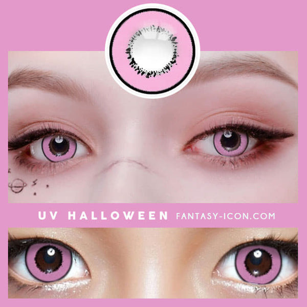 Cosplay UV Halloween Pink Contacts